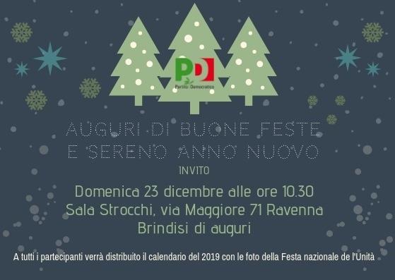 Immagini Auguri Di Natale E Buon Anno.Domenica 23 Dicembre In Federazione A Ravenna Per Gli Auguri Di