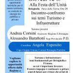 Dibattito con L'assessore Regionale A.Corsini Giovedi 12 alla festa dell'Unità di Brisighella