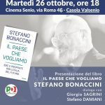 Martedì 26 ottobre, Stefano Bonaccini a Casola Valsenio